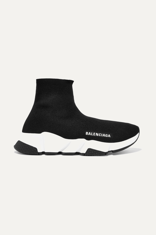 Balenciaga Speed 标志印花弹力针织高帮运动鞋