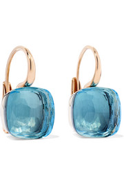 Nudo 18-karat rose gold topaz earrings
