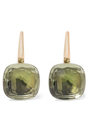 Nudo Classic 18-karat rose gold prasiolite earrings