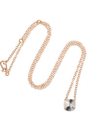 Nudo 18-karat rose and white gold topaz necklace