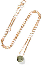 Nudo 18-karat white and rose gold prasiolite necklace
