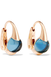 Pomellato M'ama non M'ama 18-karat rose gold topaz earrings