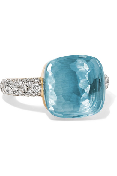 Nudo 18-karat White Gold, Topaz And Diamond Ring - 13 POMELLATO