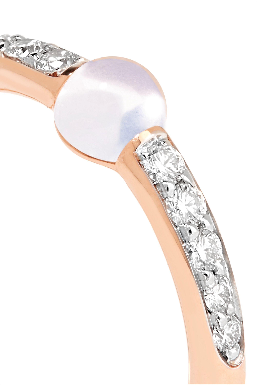 Pomellato M'ama non M'ama 18-karat rose gold, diamond and moonstone ring