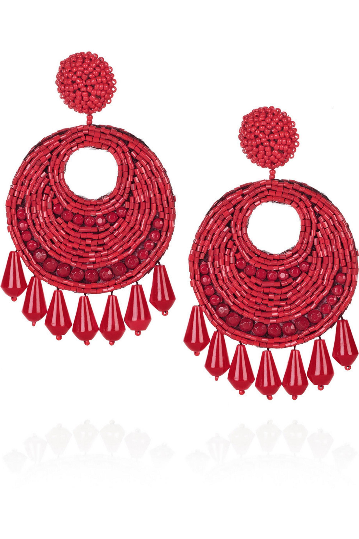 Kenneth Jay Lane 22-karat gold beaded earrings
