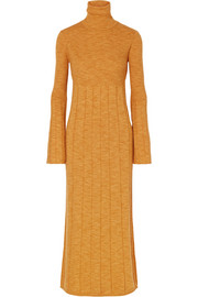 Elizabeth and James Clementine ribbed merino wool turtleneck maxi dress