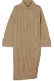 Elizabeth and James Mae ribbed wool and cashmere-blend turtleneck sweater
