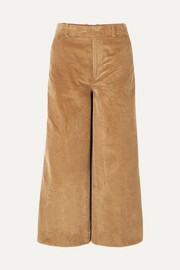Oakley cropped cotton-corduroy wide-leg pants