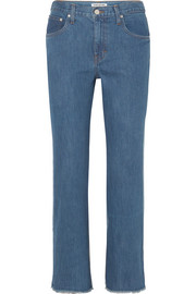 Holden two-tone high-rise straight-leg jeans