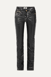 Eytys Cypress high-rise coated slim-leg jeans