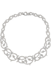 Poison Ivy 18-karat white gold diamond necklace