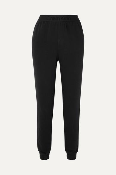 CALVIN KLEIN UNDERWEAR   Calvin Klein Underwear - Cotton-blend Jersey Track Pants - Black   Goxip