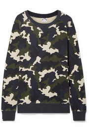 Sid camouflage-print cotton-terry sweatshirt