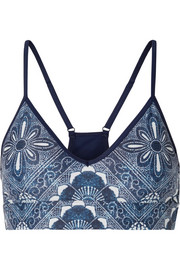 The Upside Andie printed stretch sports bra