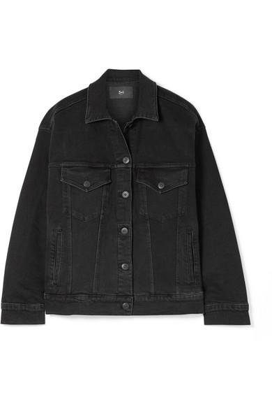 3X1 Oversized Denim Jacket - Black Size M