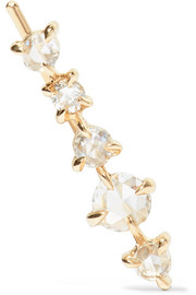 Snow Queen 14-karat gold diamond earring