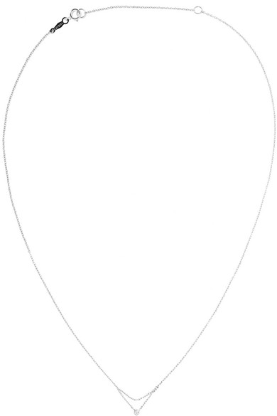 CATBIRD CHAINED TO MY HEART 14-KARAT WHITE GOLD DIAMOND NECKLACE