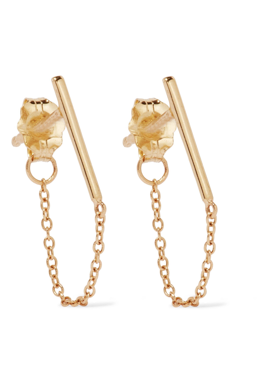 Catbird Ballerina 14-karat gold earrings