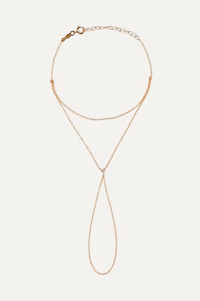 CATBIRD KITTEN MITTEN 14-KARAT GOLD DIAMOND BRACELET