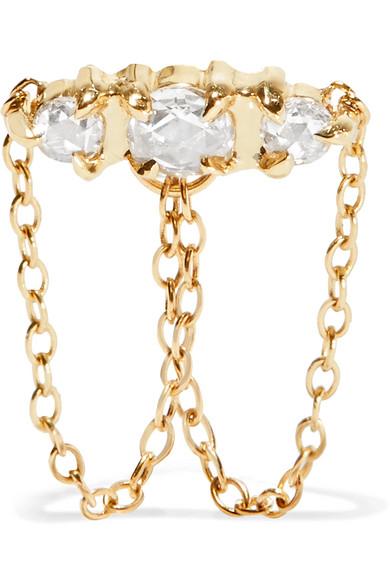 CATBIRD SLEEPING BEAUTY 14-KARAT GOLD DIAMOND EARRING