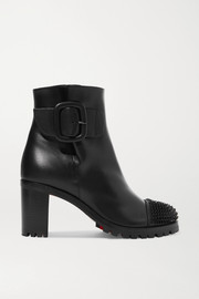 Olivia Snow 70 spiked leather ankle boots