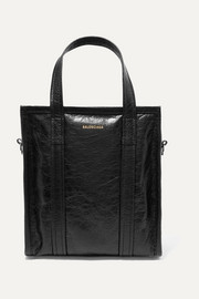 Bazar XS textured-leather tote