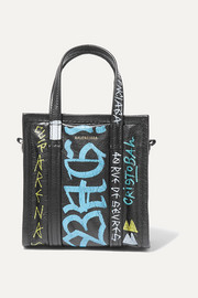 Bazar XXS Graffiti printed textured-leather tote