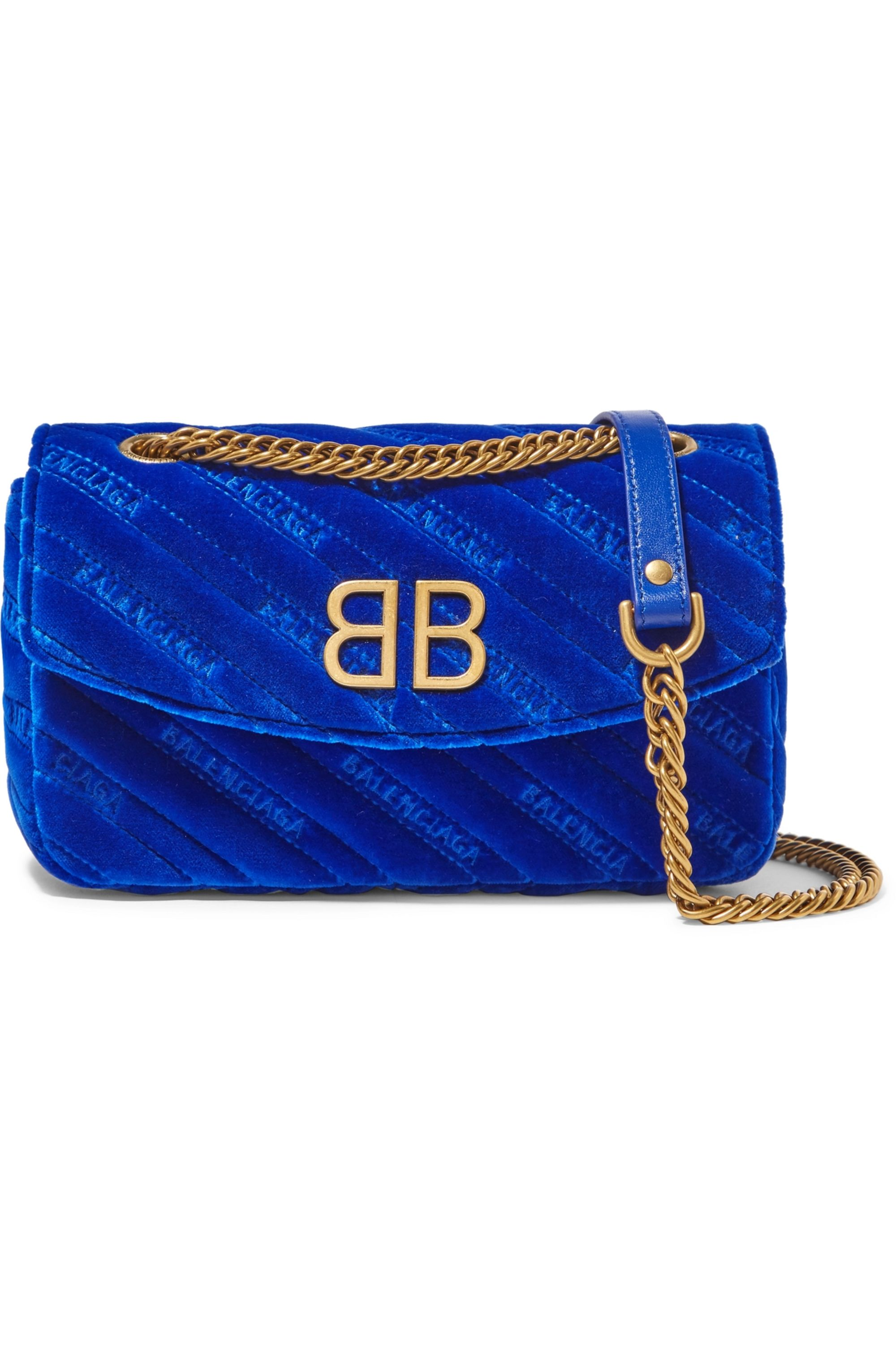 Bright blue BB Round embroidered
