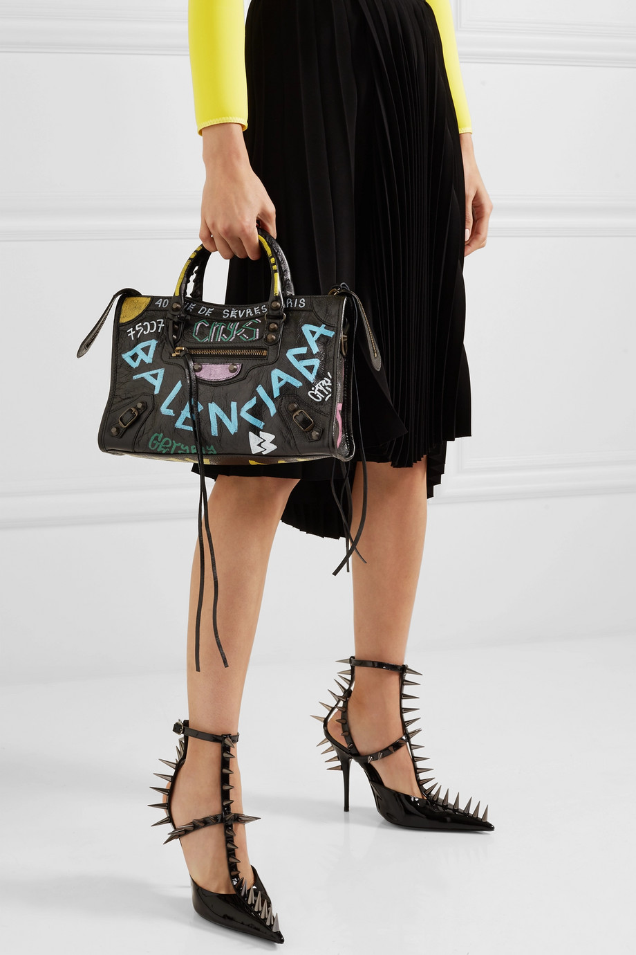 Printed City Tote Classic Balenciaga Textured Leather QdhrsxBtCo
