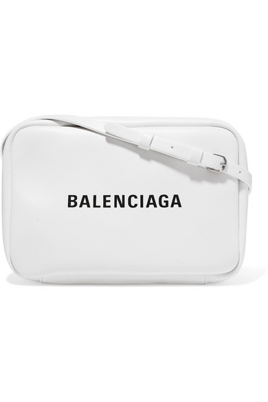 Balenciaga - Printed Textured-leather Camera Bag - White