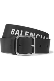 Balenciaga Everyday printed textured-leather belt