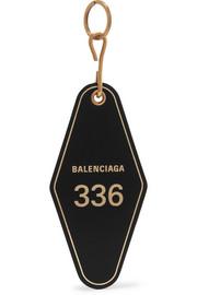 발렌시아가 Balenciaga Hotel printed leather keychain