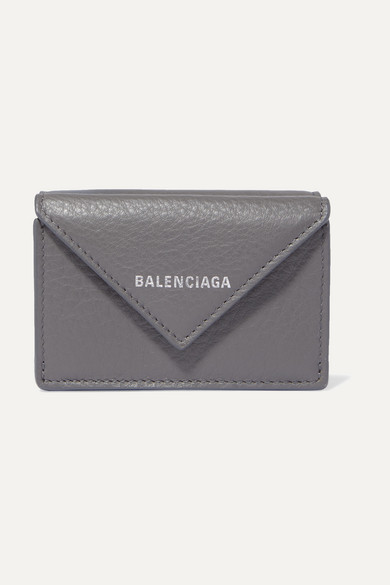 PAPER MINI PRINTED TEXTURED-LEATHER WALLET