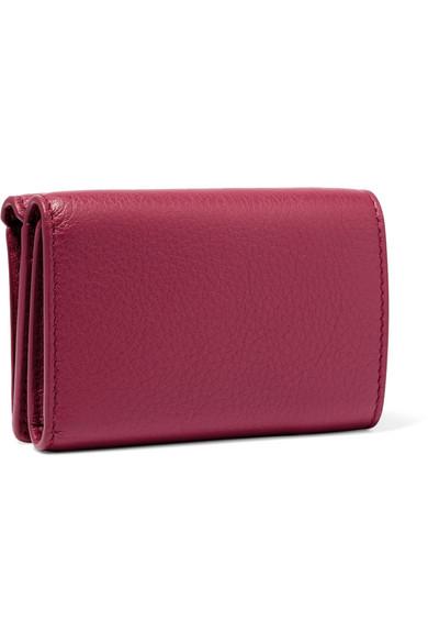 Balenciaga Wallets Papier mini printed textured-leather wallet