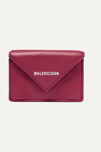 Balenciaga Wools Papier mini printed textured-leather wallet