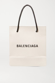 Balenciaga Printed textured-leather tote