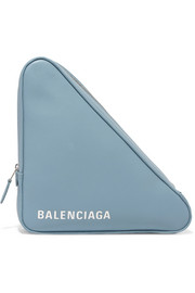 Balenciaga Triangle printed leather pouch