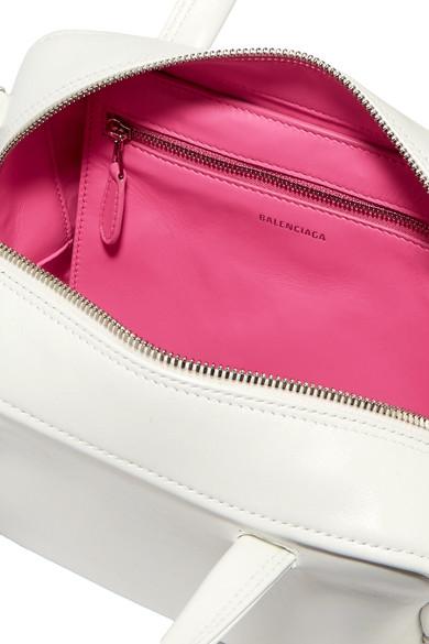 ab96ec04a060a Balenciaga. Triangle Square XS AJ printed leather shoulder bag. £625. Zoom  In
