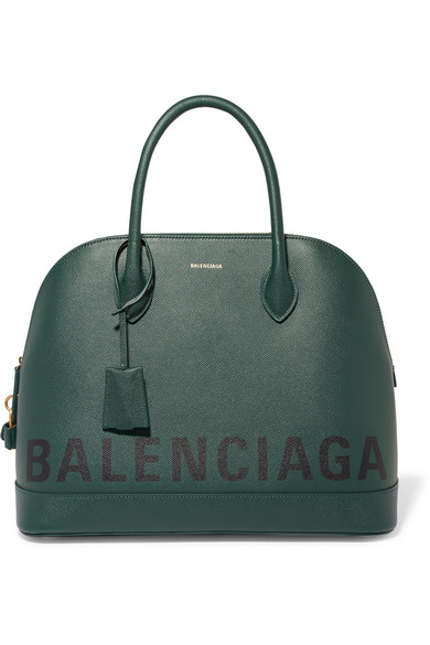 Balenciaga - Ville Printed Textured-leather Tote - Green