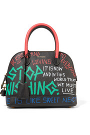 Balenciaga Ville Graffiti small printed textured-leather tote