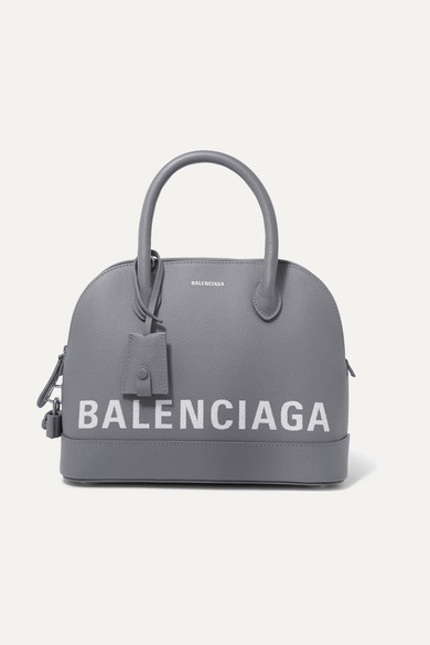 Balenciaga Totes Ville small printed textured-leather tote