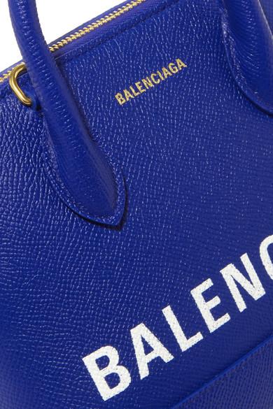 Balenciaga Totes Ville mini printed textured-leather tote