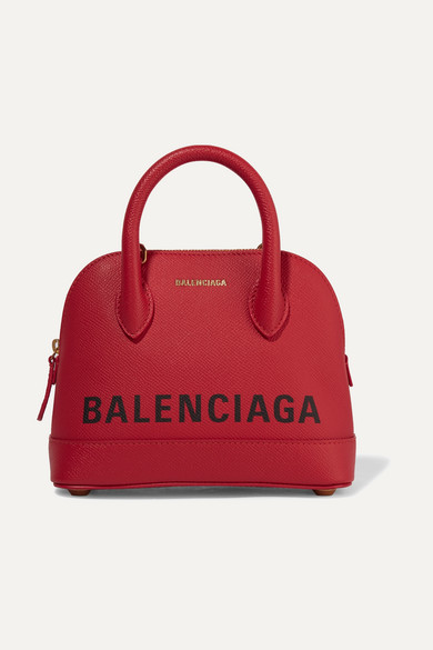Ville Xxs Aj Printed Textured Leather Tote by Balenciaga