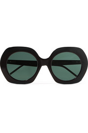 Thom Browne Oversized round-frame acetate sunglasses