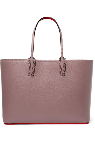 f80aba349e Christian Louboutin | Cabata spiked textured-leather tote | NET-A ...