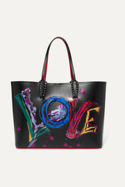 Christian Louboutin Cabata spiked printed leather tote