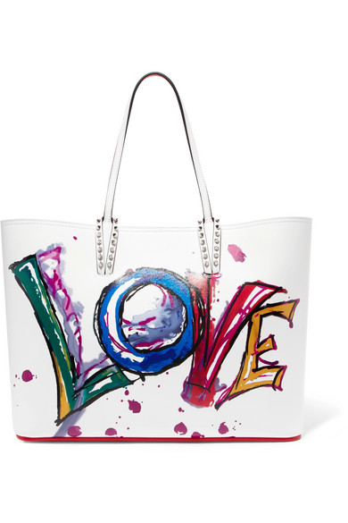 f352709cb237 Christian Louboutin. Cabata spiked printed leather tote