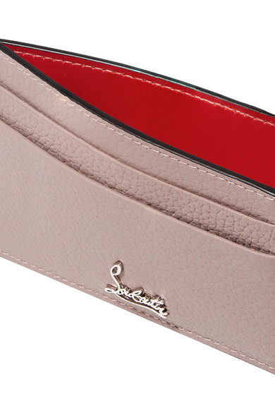 Christian Louboutin Wallets Textured-leather cardholder