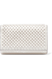 Paloma spiked patent-leather clutch