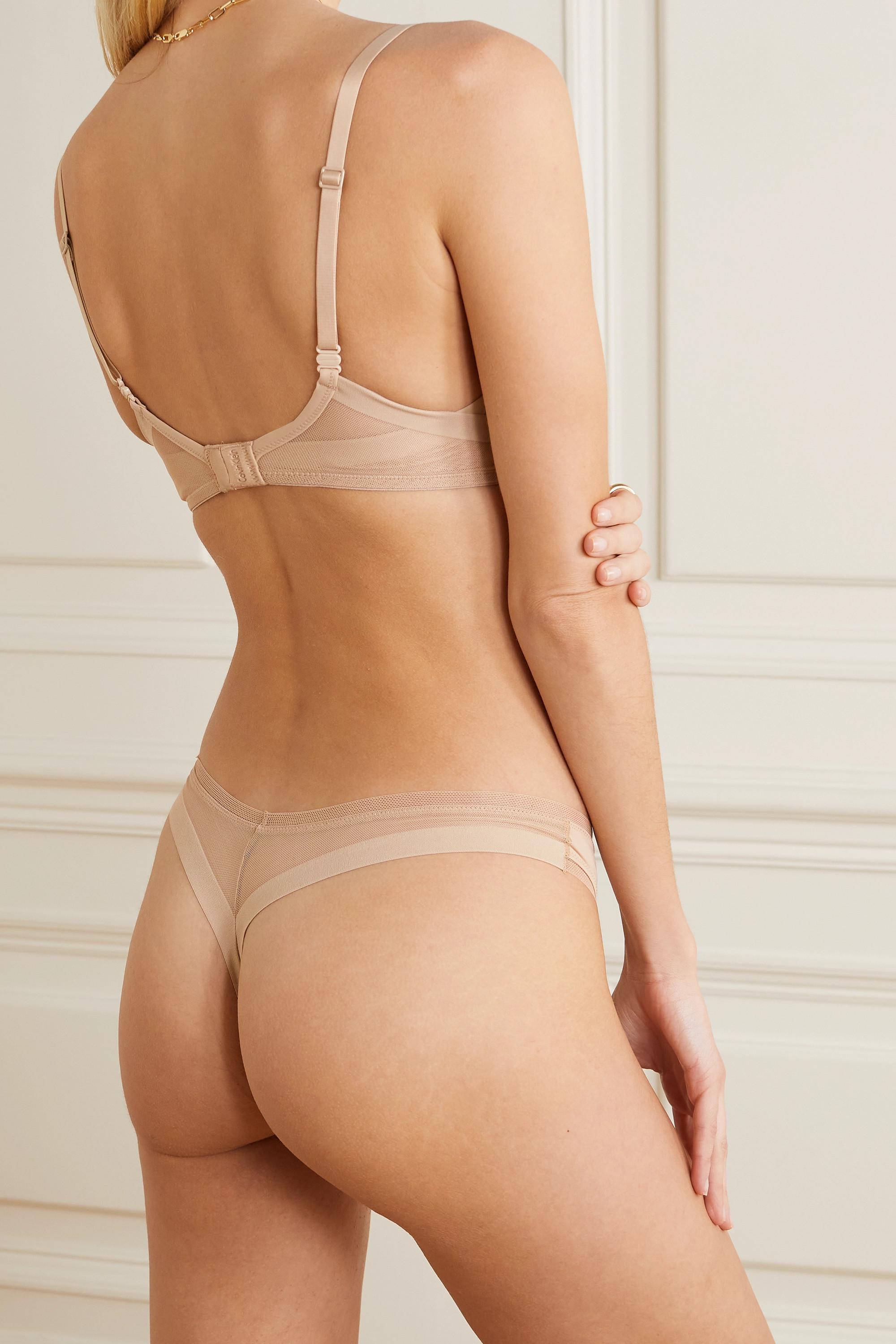 Calvin Klein Underwear Sculpted stretch-jersey and mesh thong
